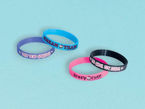 Monster High Rubber Bracelet (4Ct)
