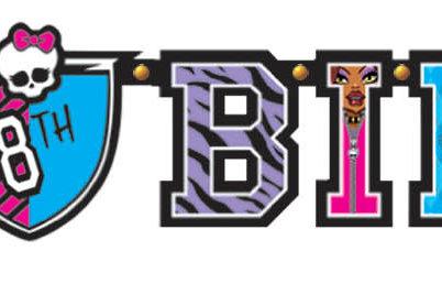 Monster High Jumbo Add-An Age Banner