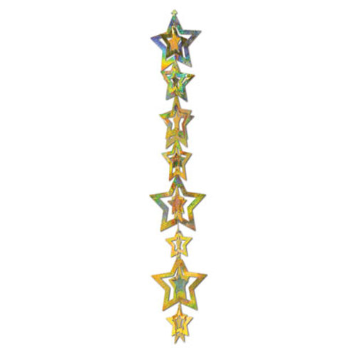 3D Gold Happy New Year Star Garland