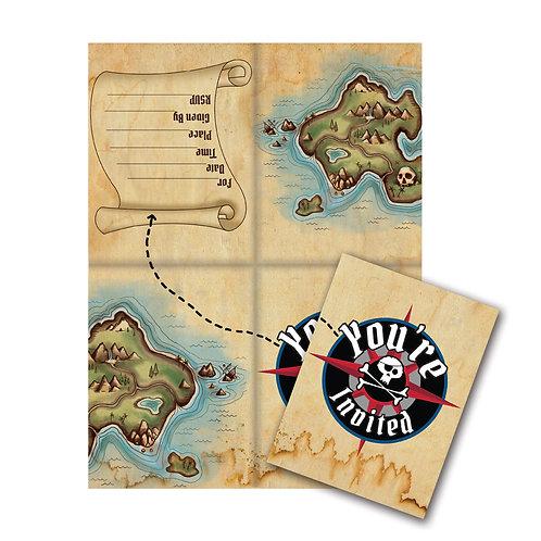 Pirate's Map Invitation