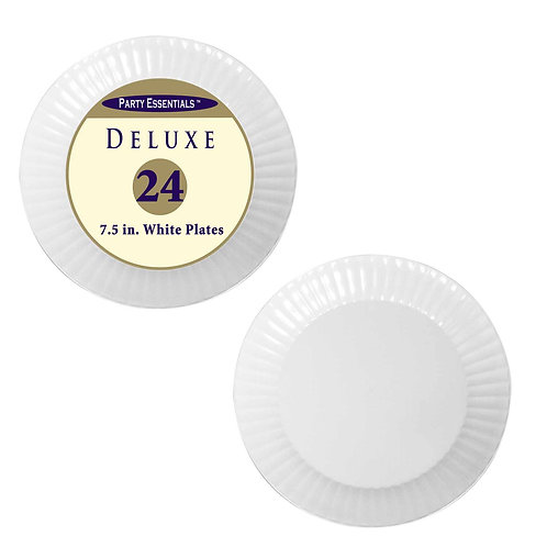 """Deluxe Plates Salad 7.5""""- White 24Ct"""