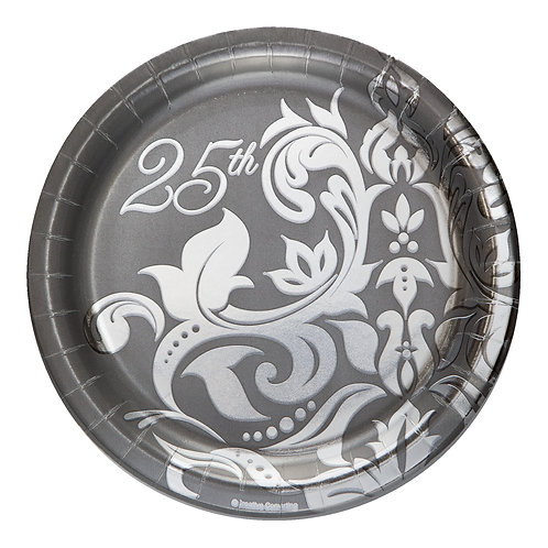 """25th Anniversary Luncheon Plate 7"""" (18ct)"""