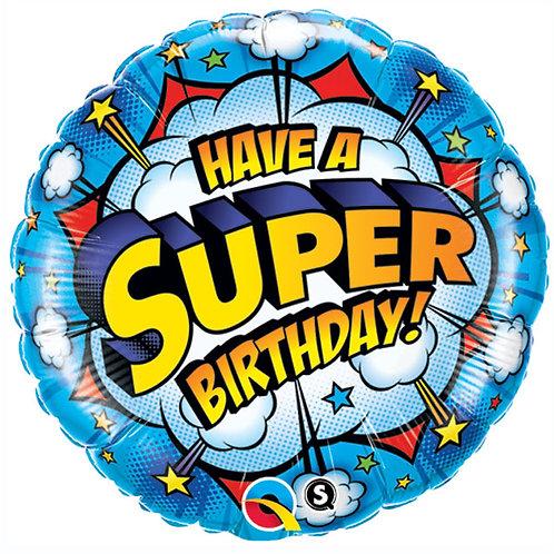 "Balloon Foil 18"" Super Happy Birthday"