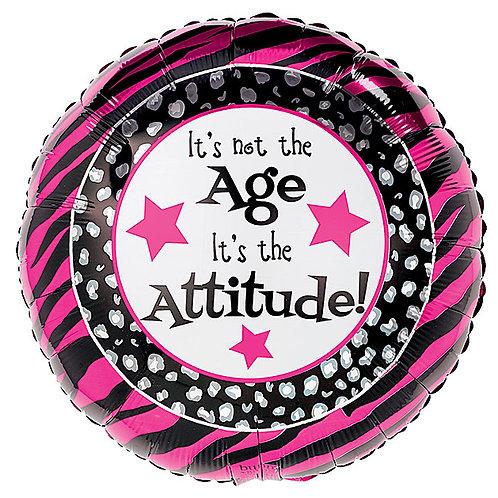 "Balloon Foil 18"" Birthday Attitude"