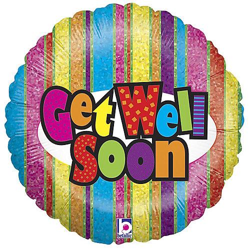 "Balloon Foil 18"" Get Well Soon"