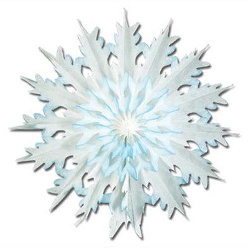 Tissue Snowflake Dip Dyed