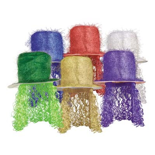 Assorted Tinsel Hat With Wig