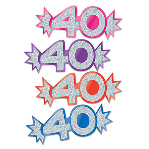 """40"" Mini Glittered Cutouts"