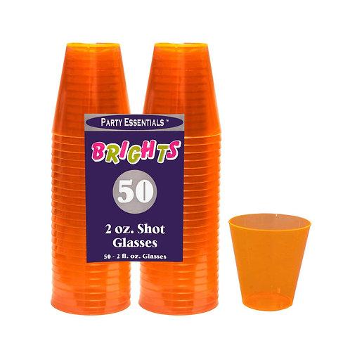 Shot Glasses - Neon Orange 2Oz 50Ct