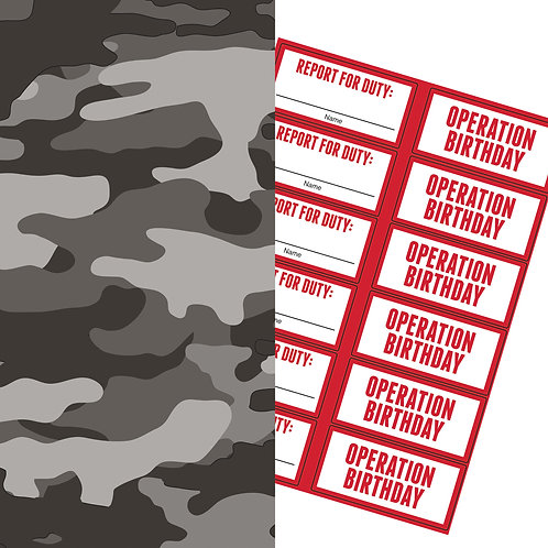 Army Paper Treat Bag with Sticker (6ct)