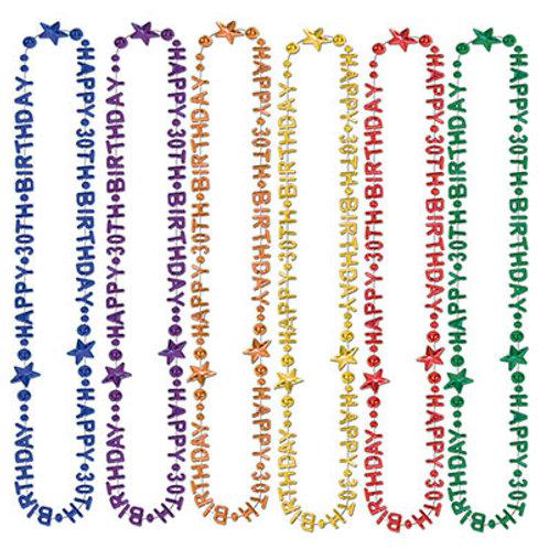 30th Birthday Beads