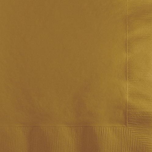 Gold Glittering Beverage Napkin