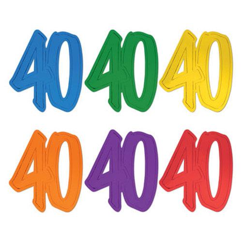 40th Birthday Foil Cutout