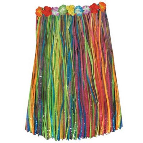Adult Hula Skirt Multicolored