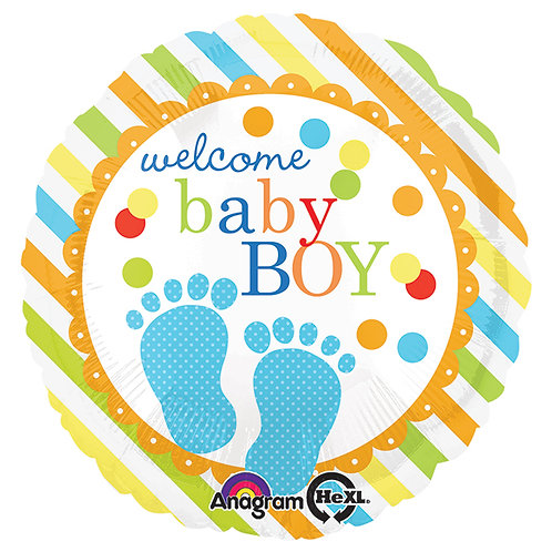 "Balloon Foil 17"" Baby Boy Feet"