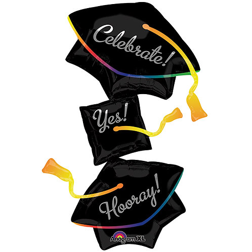 "Balloon Foil 37"" Grad Hats"