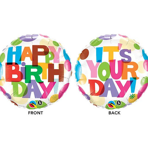 """Balloon Foil 18"""" Its Your Day"""