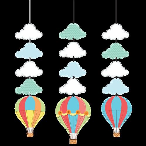Up Up And Away Hanging Cutout (3Ct)