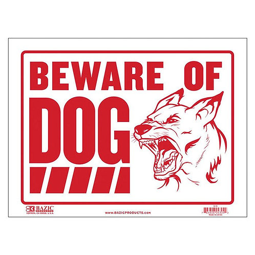 "12"" x 16"" Beware of Dog Sign"