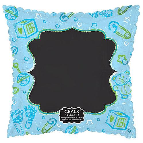 """Balloon Foil 17"""" Blue Chalkboard"""