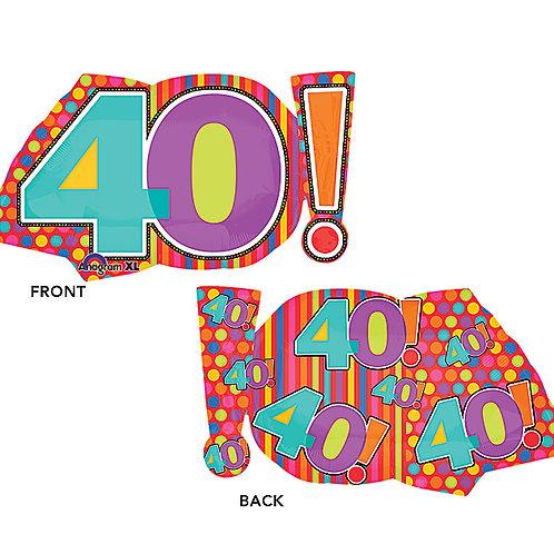 "Balloon Foil 29"" Age 40!"