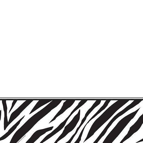 "Animal Print Zebra Plastic Tablecover 54""X108"""