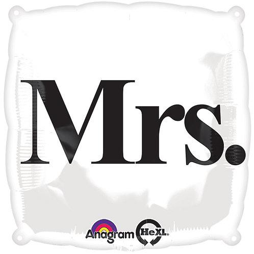 "Balloon Foil 18"" Square Mrs."