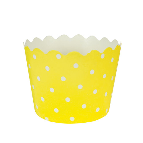 Baking Cups Polka Dot Bake Cup - Mimosa (12 ct)
