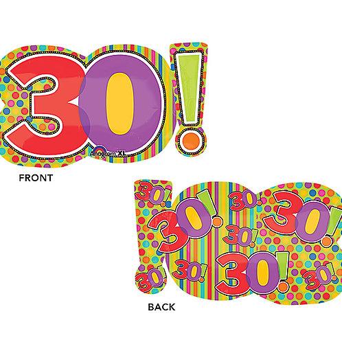 "Balloon Foil 29"" Age 30!"