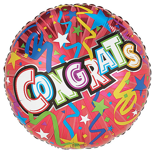 """Balloon Foil 18"""" Congrats Ribbon"""