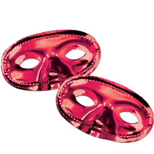 Red Carnival Metallic Mask