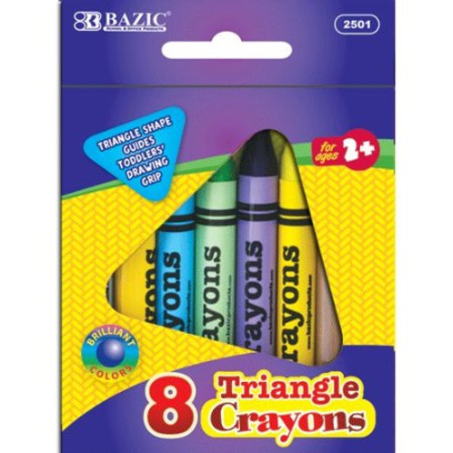8 Color Triangle Crayons