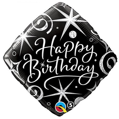 "Balloon Foil 18"" Birthday Elegant"