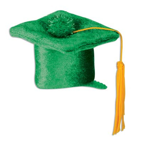 Green Graduation Cap Hair Clip