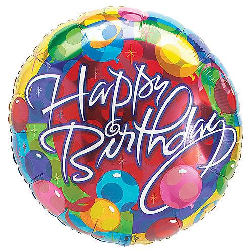 "Balloon Foil 18"" Happy Birthday"
