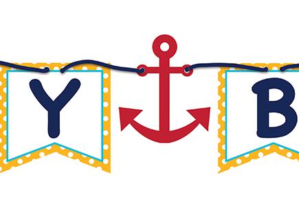 Ahoy Matey Ribbon Banner