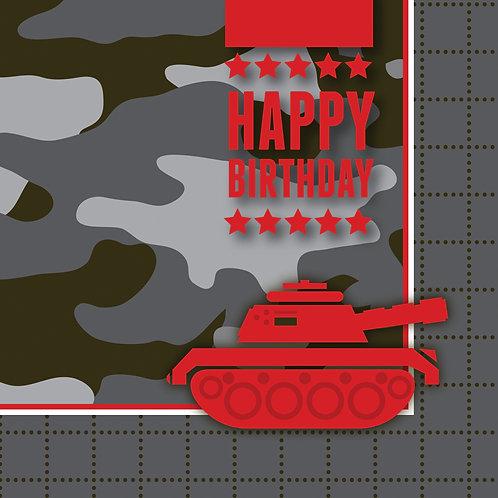 Army Luncheon Napkin (16ct)