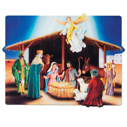 Christmas Cutout Nativity Scene