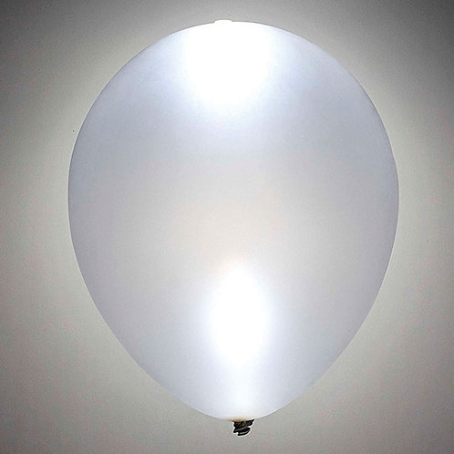 "Balloon 11"" Led Lite Silver 1Ct"