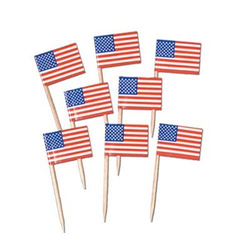 American Flag Picks 50 Pc