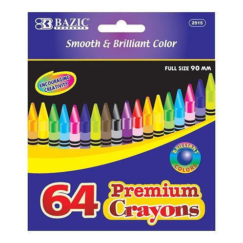 64 ct. Premium Quality Color Crayon