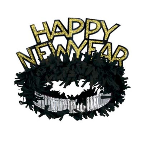 Black and Gold Happy New Year Tiara