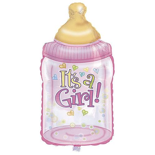 "Balloon 38"" Foil Pink Bottle"