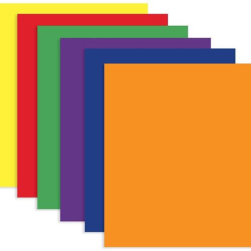 Assorted Color 2-Pockets Portfolios