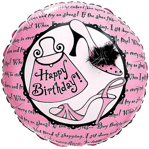 "Balloon Foil 18"" Happy Birthday Sassy Gal"