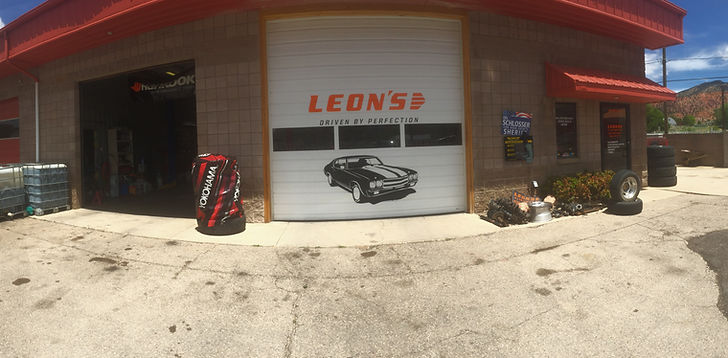 Leon's Alignments full service auto mechanic shop.