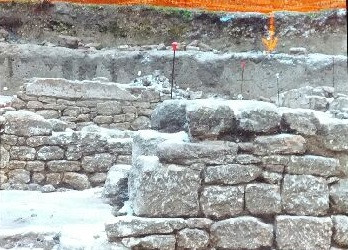 Walls found inside the Roman archaeological Site of Ucetia