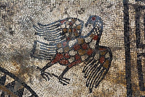 Jupiter aigle mosaïque à Ucetia