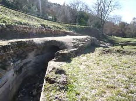 aqueduc Romain à Uzès dans la Vallée d'Eure