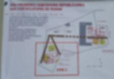 Plan du terrain de fouille d'Ucetia en Mars 2017